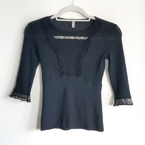 NWOT Free People intemitely Lace neck top